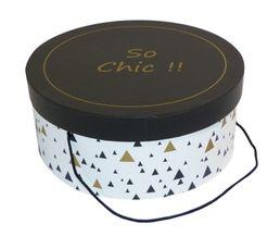 Boites De Rangement - Boite à chapeau PRECIOUS Noir/Or