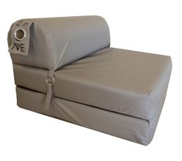 chauffeuse l 75 cm 2 in 1 taupe poufs poires but. Black Bedroom Furniture Sets. Home Design Ideas