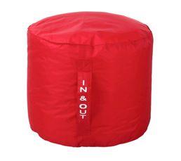 Pouf rond D50 x H40 cm TILT Rouge