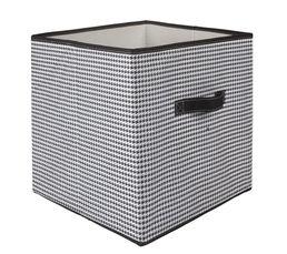 Boites De Rangement - Bac intissé 2 PIED DE POULE Noir/Blanc