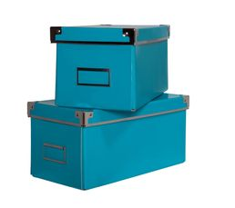 Lot de 2 bo�tes SCHOOL Bleu