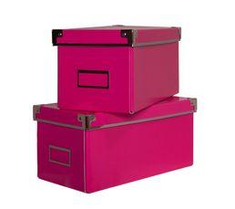 Boites De Rangement - Lot de 2 boîtes SCHOOL Rose