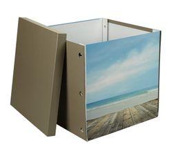 Boîte 31X31X31 cm NATURE Imprimé