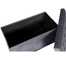 Banc coffre pliant HOMY tissu gris