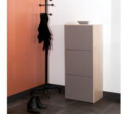 Meuble chaussures sydney taupe et ch ne meubles for Meuble tv largeur 100 cm