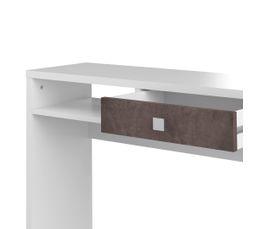 Console 1 tiroir AURORE Blanc et béton