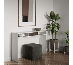 Tables D'appoint Et Consoles - Console 1 tiroir AURORE Blanc et béton