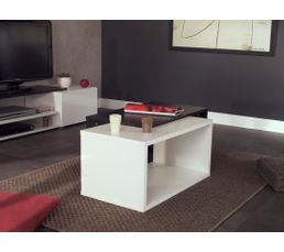 Tables Basses - Table basse modulable GINIE Blanc et noir