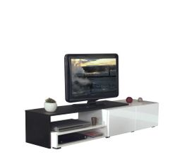 Meubles Tv - Meuble TV SPRING Blanc et noir