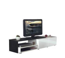 Meuble TV SPRING Blanc et noir