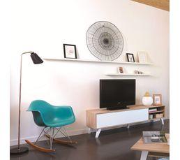 Meuble TV Scandinave COSMOS Chêne et blanc
