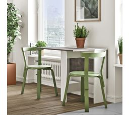 Table de cuisine pliable leane blanc et gris tables but - Table de cuisine pliante ikea ...