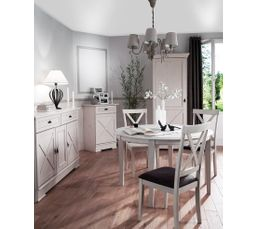 Couleur blanc table de salle manger pas ch re for Salle a manger but olivia