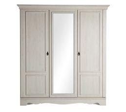 Armoire 3 portes JULIETTE ch�ne blanchi