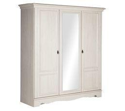 Armoires - Armoire 3 portes JULIETTE chêne blanchi