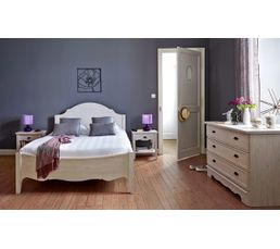 lit 160 x 200 cm juliette ch ne blanchi lits but. Black Bedroom Furniture Sets. Home Design Ideas