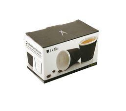 Tasse à café LES ARTISTES Noir 10 cl.