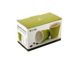 Tasse à café LES ARTISTES Vert 10cl.