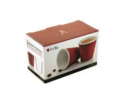Tasse à café LES ARTISTES Rouge 10 cl.