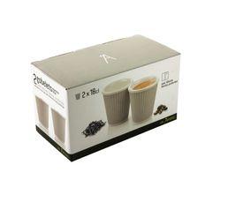 Tasse à café LES ARTISTES Gris 18 cl.