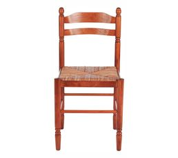 Couleur bois clair chaise de salle manger pas cher - Chaise paysanne rouge ...