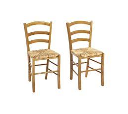 Chaises - Chaise PAYSANNE 2 Chêne