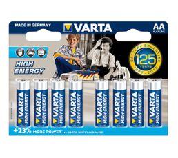 Piles Alcalines VARTA LR6 4906121418 x 8
