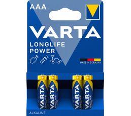 VARTA Piles alcalines LR03 4903121414 x 4
