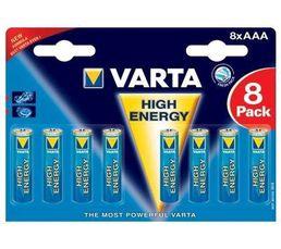 VARTA Piles Alcalines LR03 490312418 x 8
