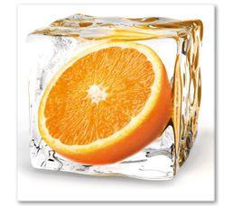 tableau en verre x deco glass orange with tableau deco glass. Black Bedroom Furniture Sets. Home Design Ideas