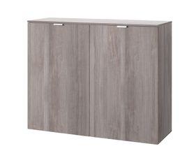 Buffets - Rangement 2 portes CARINA imitation chêne argenté