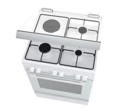 BOSCH Cuisinière mixte HGD72D220F Blanc