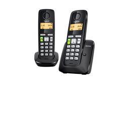 Téléphone Résidentiel - Téléphone sans fil GIGASET AS350 Duo Noir