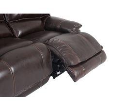 Canapé 2 places 2 relax manuel LAND Cuir/croûte cuir Chocolat