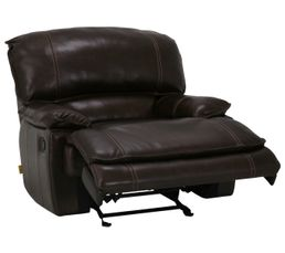 Canap�s - Fauteuil relax manuel LAND Cuir/croûte cuir Chocolat