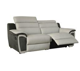 Canapé 3 places Wow cuir gris clair