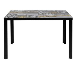 Tables - Table rectangulaire STREET plateau c�ramique motifs NYC