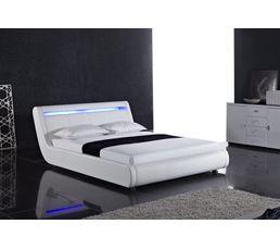 achat lit 160x200 cm led moka conforama acheter moins cher lit 160x200 cm led moka. Black Bedroom Furniture Sets. Home Design Ideas