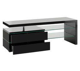 couleur noir meuble tv pas cher. Black Bedroom Furniture Sets. Home Design Ideas