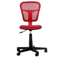 chaise dactylo flashy rouge chaises et fauteuils but. Black Bedroom Furniture Sets. Home Design Ideas