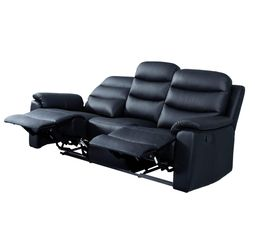 Canap� relax 3 places BOBBY 2 Cuir Noir