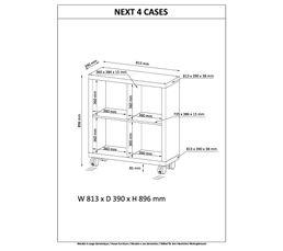 Séparation 4 cases NEXT Imitation chêne