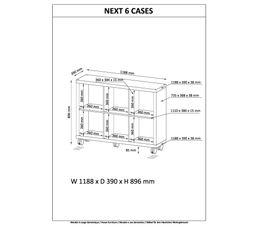 Séparation 6 cases NEXT Imitation chêne