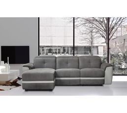 Canapé d'angle gauche ZEN Relax Gris