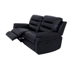 Canap� 3 places 2 relax manuel WALTER Polyur�thane/tissu Noir