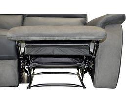 Canapé 3 places relax manuel WELTON Cuir/micro.Gris clair//Gris F
