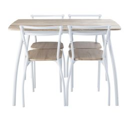 Table et chaise cuisine but for Ensemble table et chaise de cuisine blanc
