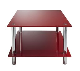 Couleur rouge table basse pas ch re - Table basse industrielle pas chere ...