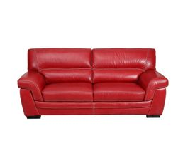 Couleur rouge canap pas cher for Canape chesterfield rouge cuir