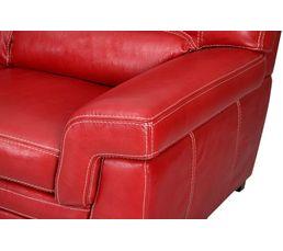 Couleur rouge canap s en soldes for Canape d angle cuir rouge